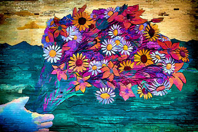 Photograph - Counting Flowers On The Wall by John Haldane