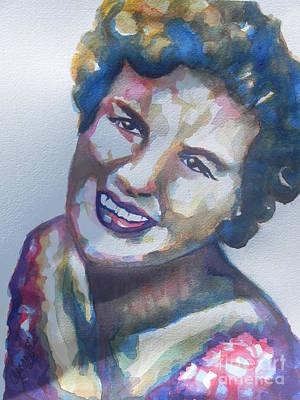 Country Artist Patsy Cline Original by Chrisann Ellis