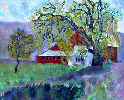 Painting - Country Barn by Aleezah Selinger