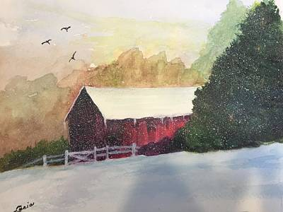 Painting - Country Barn by Lucia Grilletto