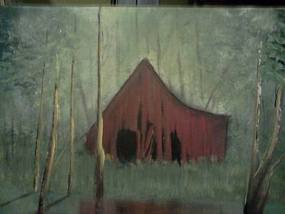 Worn Down Painting - Country Barn by Mario Sapp