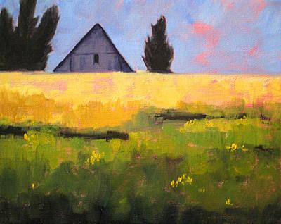 Wa Painting - Country Barn by Nancy Merkle