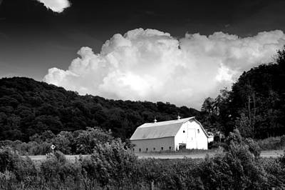 White Barn Photograph - Country Barn by Shane Holsclaw