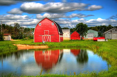 Print featuring the photograph Country Barnyard by Larry Trupp