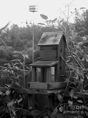 Animal Shelter Digital Art - Country Bird House by Kelvin Booker