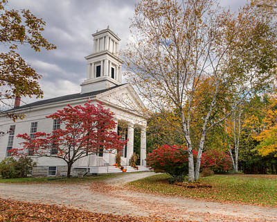 Autumn In The Country Photograph - Country Chapel by Bill Wakeley