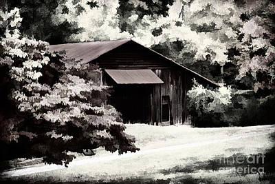 Country Charm In Dramatci Bw Art Print by Darren Fisher