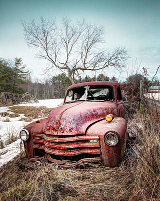 Photograph - Country Chevrolet - Old Rusty Abandoned Truck by Gary Heller