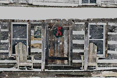 Log Cabins Photograph - Country Christmas by Benanne Stiens