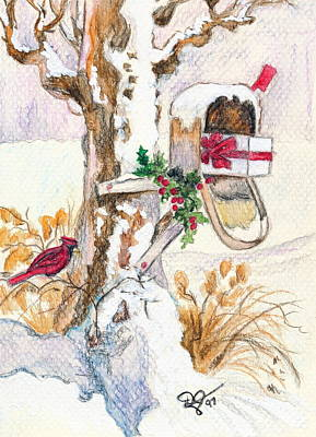 Mixed Media - Country Christmas Mail  by Dale Jackson