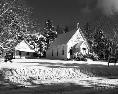 Hunter Photograph - Country Church And School House by Donna Cavanaugh