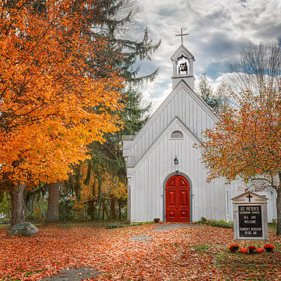 Autumn In The Country Photograph - Country Church by Bill Wakeley