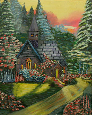 Painting - Country Church by Dina Jacobs