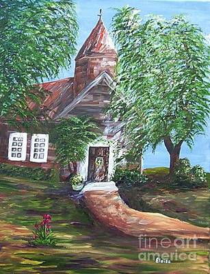 Trees Painting - Country Church by Eloise Schneider