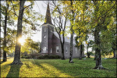 Photograph - Country Church by Erika Fawcett
