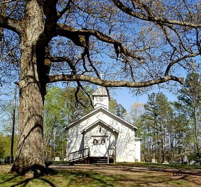 Church On The Hill Photograph - Country Church by Glenda Barrett