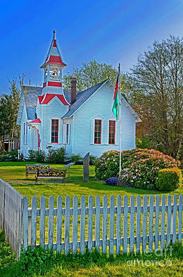 Country Church In Oysterville Wa Art Print by Valerie Garner