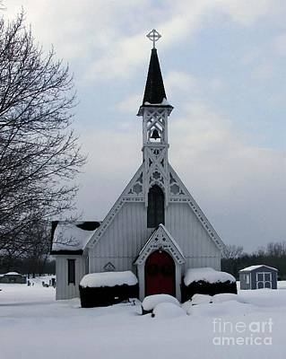 Photograph - Country Church In Snow by Donna Cavanaugh