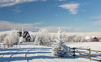 Photograph - Country Church In Winter by Imaginegolf