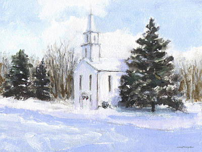 Painting - Country Church by J Reifsnyder