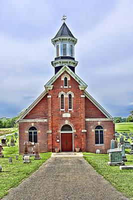 Photograph - Red Brick Church by Maria Coulson