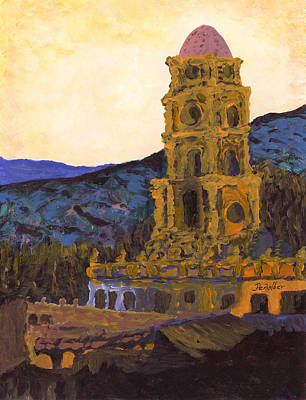 Painting - Country Church  by Oscar Penalber
