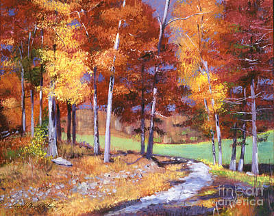 Golf Course Painting - Country Club Fall by David Lloyd Glover