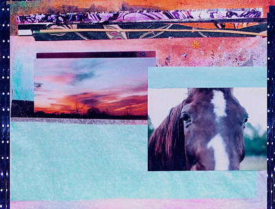Country Collage 4 Art Print
