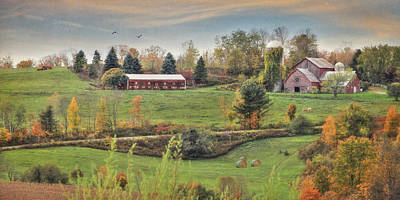 Barn Digital Art - Country Colors by Lori Deiter