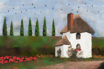 Digital Art - Country Cottage by Greg Collins