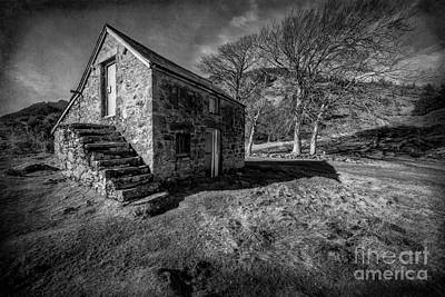 Stone Buildings Photograph - Country Cottage V2 by Adrian Evans