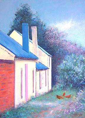 Farm House Painting - Country Cottages by Jan Matson