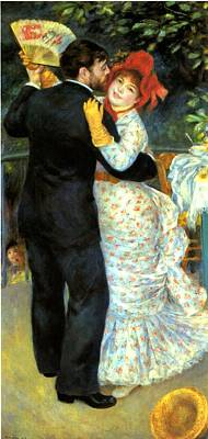Digital Art - Country Dance by Pierre Auguste Renoir
