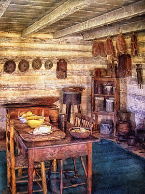 Crocks Digital Art - Country Dining by Mary Almond