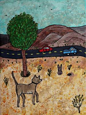 Water Dogs Mixed Media - Country Dog by Sheryl Young