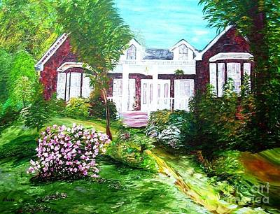 Porch Painting - Country Estate In Spring by Eloise Schneider