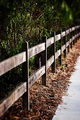 Photograph - Country Fence Color by Kathleen Messmer