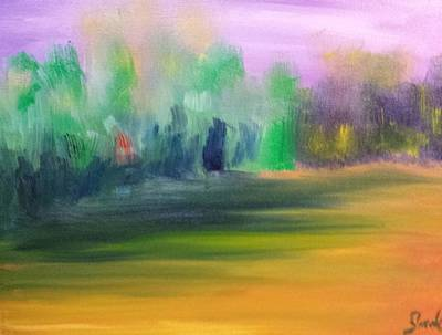 Painting - Country Field And Trees by Steve Jorde