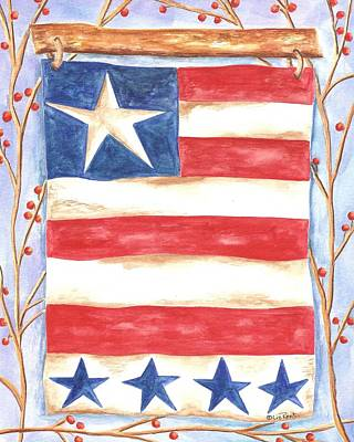 Americana Licensing Painting - Country Flag - Liz Revit by Liz Revit