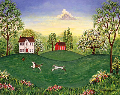 Farm Painting - Country Frolic Two by Linda Mears