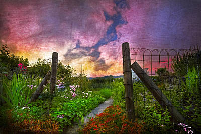 Country Garden Art Print by Debra and Dave Vanderlaan