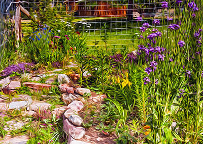 Wa Painting - Country Garden by Omaste Witkowski