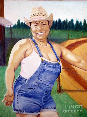 Painting - Country Girl by Clifford Etienne