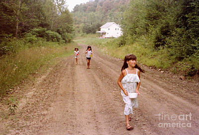 Photograph - Country Girls Going To Pick Berries by Tom Brickhouse