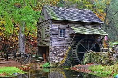 Country Grist Mill Art Print by Paul Ward