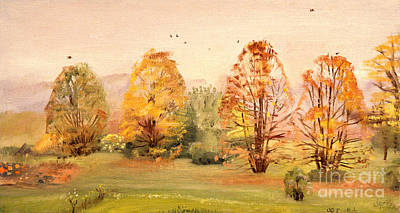 Painting - Country Hideout In The Fall by Art By Tolpo Collection