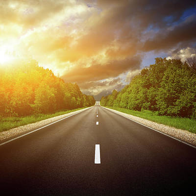 Photograph - Country Highway. The Way Forward by Sankai