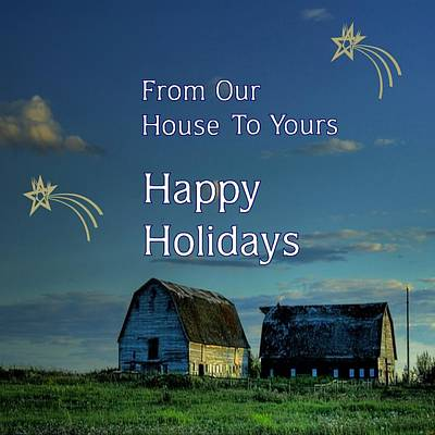 Digital Art - Country Holiday Greetings by Florene Welebny