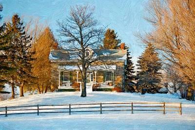 Steve Harrington Digital Art - Country Home Impasto by Steve Harrington