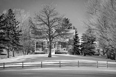 Old Fashioned Photograph - Country Home Monochrome by Steve Harrington